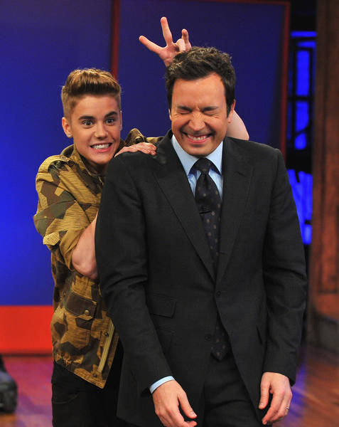 "Justin Bieber thinks his Ferrari 458 Italia is getting him into trouble.  ""It drives amazing, although, you know what, the police really like to pull me over,"" Bieber said in an appearance on ""Late Night With Jimmy Fallon"" Tuesday. ""I don't do anything, I promise. It looks bad ... you see pictures of me getting pulled over. But really, the tints are really dark.  ""Usually, I need dark tints because I don't want to cause accidents because people are trying to take pictures. I just thought it would be more safe for everyone else if I had dark tints .... I'm thinking about other people.""  <br><br> <strong>Full story:</strong> <a href=""http://www.latimes.com/entertainment/gossip/la-et-mg-justin-bieber-jimmy-fallon-snl-promo-20130206,0,3602824.story"">Justin Bieber: 'The police really like to pull me over'</a>"