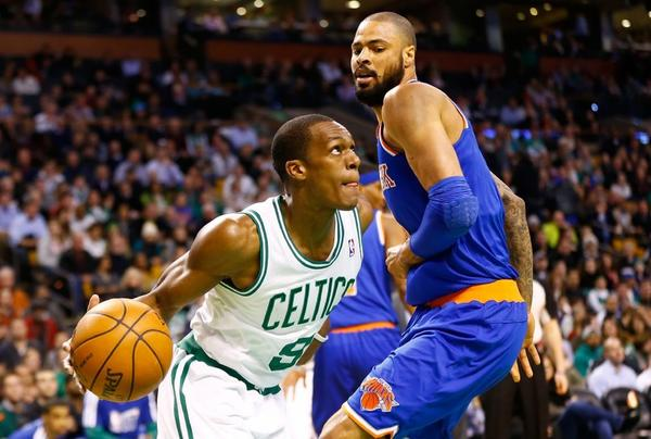 Boston Celtics guard Rajon Rondo suffered only a partial ligament tear in his right knee rather than a full tear.