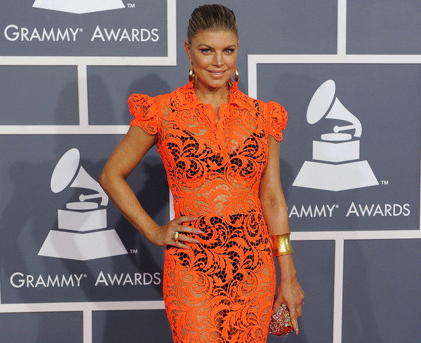 Fergie at Grammy Awards in 2012