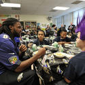 Torrey Smith at Chase Elementary School