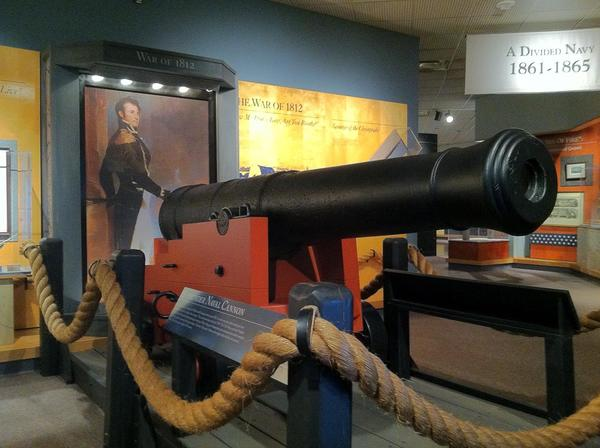 This 18-pound gun from the USS Constellation is on exhibit at the Hampton Roads Naval Museum in Norfolk.