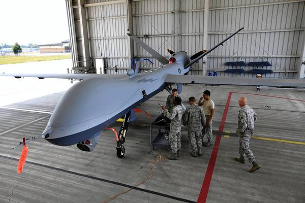 Air National Guard Members in Syracuse, N.Y., learn to maintain an MQ-Reaper drone, a type used in Afghanistan. Members of Congress are expressing growing concern about drone strikes abroad against individual terrorism suspects, especially if they are Americans.