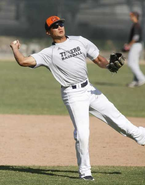 ARCHIVE PHOTO: Former Glendale Vaqueros star Scott Hong is batting .400 with five stolen bases and four walks for the 4-0 Occidental Tigers.