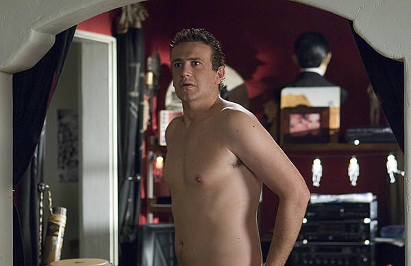 Composer Peter Bretter (Jason Segel) is dumped, while naked, by his girlfriend Sarah Marshall (Kristen Bell) after a five-year relationship and decides to go on a trip. In Hawaii, he meets hotel concierge Rachel (Mila Kunis), but is also confused when Sarah shows up with her new boyfriend Aldous Snow (Russell Brand).<br><br>  <b>Why it failed/how they broke up:</b> Well, the first breakup was ugly. The second came after a jealous Sarah tried to lure Peter back after being dumped by her boyfriend. Luckily, Peter saw through it and denied her, returning to finish his vampire puppet opera, and ending up with Rachel.