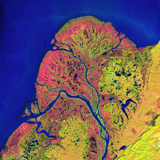 The Yukon Delta is seen on September 22, 2002.