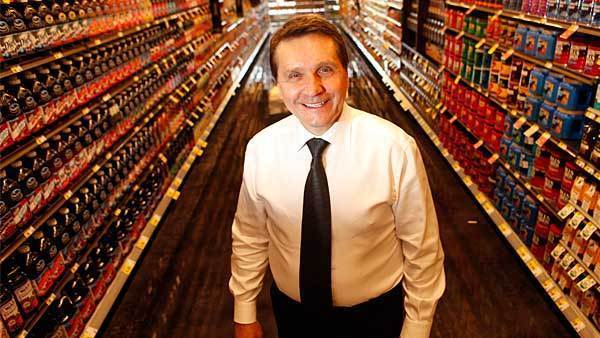 Founder Bob Mariano Monday, Oct. 3, 2011 at the new Mariano's Fresh Market, 333 E. Benton Place, that opens Tuesday.
