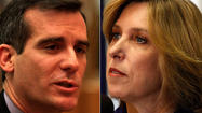 Mayoral candidates Eric Garcetti and Wendy Greuel