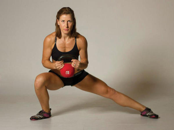 Shannon Martin of Martinsburg, W.Va., credits healthy eating and an exercise regime for getting herself into top shape.