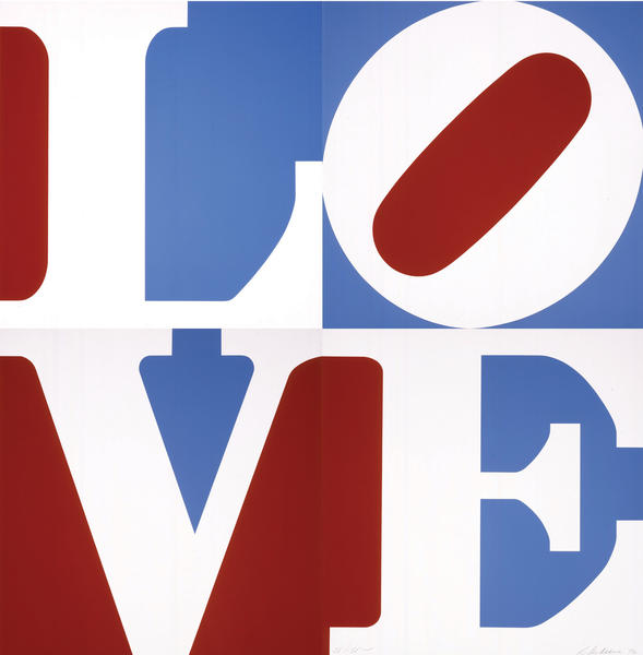 "Robert Indiana's ""LOVE"" silk-screen is on display at the Washington County Museum of Fine of Arts."