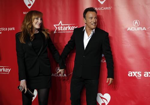 Bruce Springsteen and his wife, Patti Scialfa.