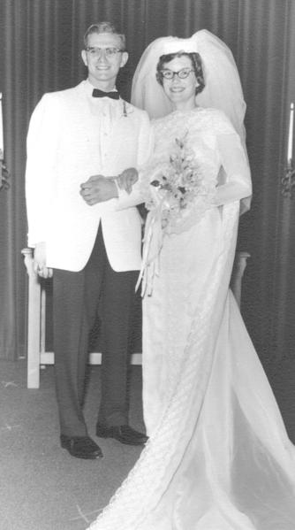 Frank and Suanne Woodring are shown on their wedding day on July 17, 1965.