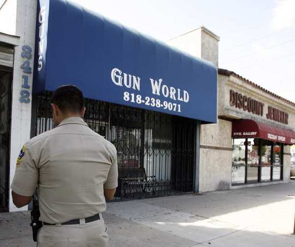 Gun World in Burbank and other area shops have experienced an increase in sales leading to a number of back orders. Owners cite President Obama's call for tighter gun regulations.
