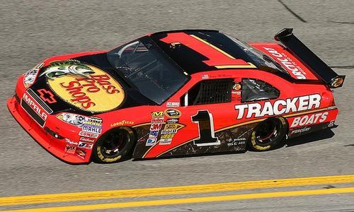 The 2010 Daytona 500 winner Jamie McMurray's car is on display at attraction's Gatorade Victory Lane.