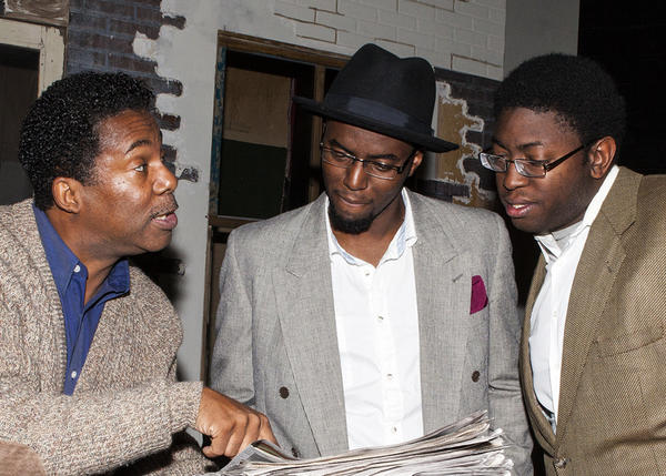 "Dwayne Allen (from left), Rosney Mauger and Michael Sapp star in ""King Hedley II"" at Seminole State College."