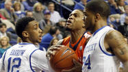 LEXINGTON, Ky. (AP) - Kyle Wiltjer's 14 points led five Kentucky players in double figures as the Wildcats outlasted Auburn 72-62 Saturday for their fifth straight win.