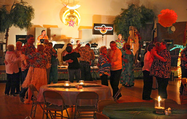 The dance floor was nearly full as area residents danced to the sounds of Mogen's Heroes recently at the Yelduz Shrine. American News Photo by John Davis