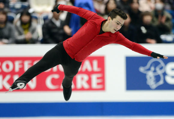 Max Aaron in his Four Continents free skate. (Toshifumi Kitamura / AFP / Getty Images)