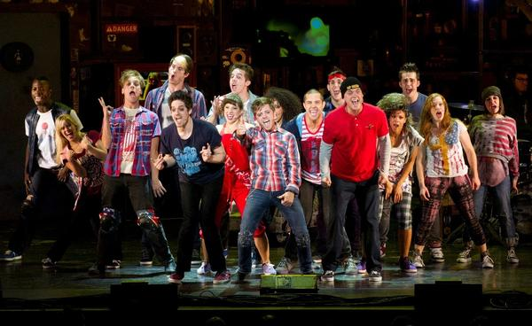 The company of the Green Day musical AMERICAN IDIOT