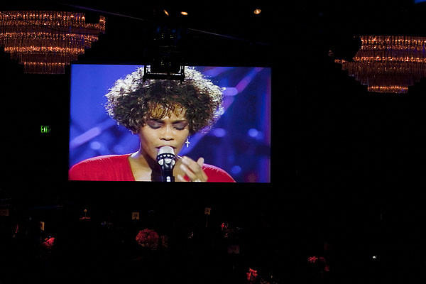 The late Whitney Houston is remembered in a tribute at the gala.