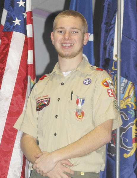 Cory Scott Crampton was awarded the rank of Eagle Scout at a court of honor Jan. 19 at Faith Christian Fellowship in Williamsport.