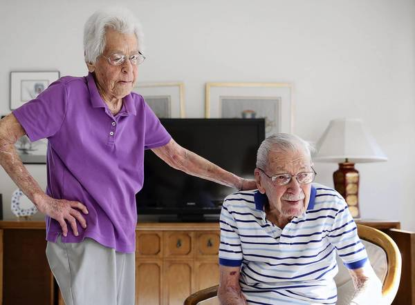 Chicagoans Carlyn Ungar and her husband, Irv, will have been married for 75 years on Valentine's Day.