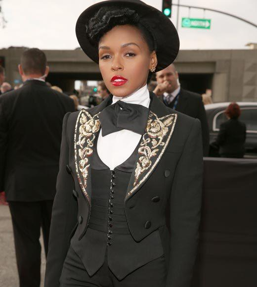 Grammy Awards 2013: Red Carpet Arrivals: Janelle Monae