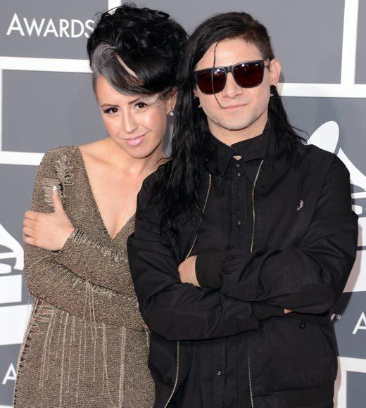 Grammy Awards 2013: Red Carpet Arrivals: Sirah and Skillrex