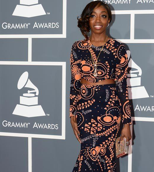 Grammy Awards 2013: Red Carpet Arrivals: Estelle