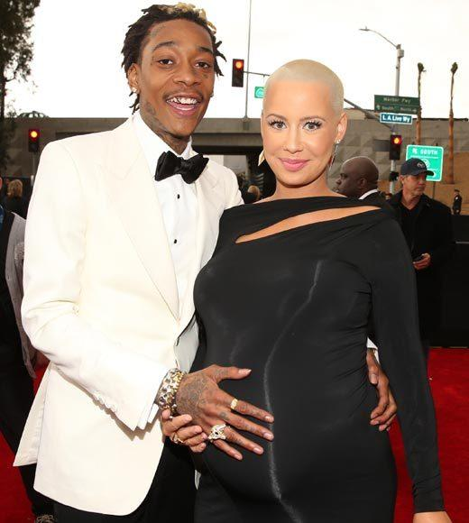 Grammy Awards 2013: Red Carpet Arrivals: Wiz Khalifa and Amber Rose