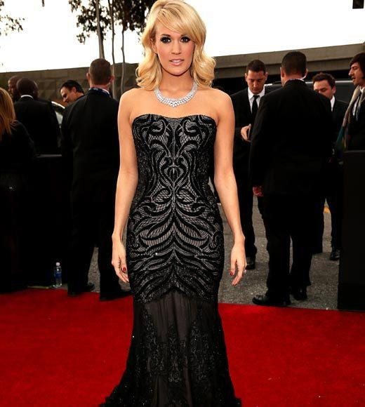 Grammy Awards 2013: Red Carpet Arrivals: Carrie Underwood