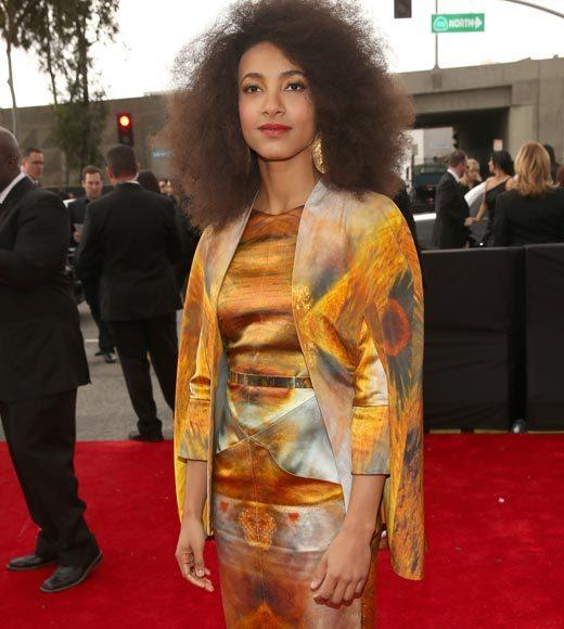 Grammy Awards 2013: Red Carpet Arrivals: Esperanza Spalding