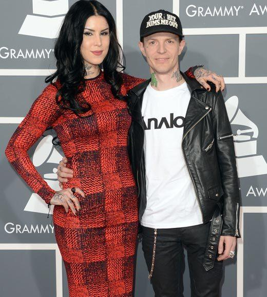 Grammy Awards 2013: Red Carpet Arrivals: Kat Von D and Deadmau5