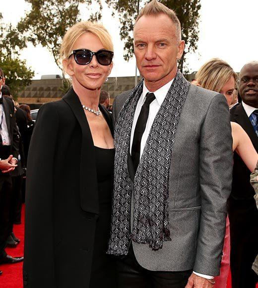 Grammy Awards 2013: Red Carpet Arrivals: Trudie Styler and Sting