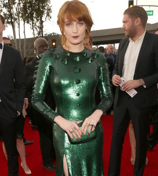 Grammy Awards 2013: Red Carpet Arrivals: Florence Welch
