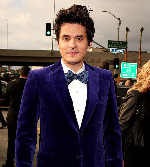 "John Mayer definitely marches to the beat of his own drum, but we cannot get behind him showing up to the 2013 Grammy Awards dressed like he's about to take Charlie Bucket on a whirlwind adventure in his chocolate factory. <BR><BR> <i>-- <a href=""http://twitter.com/andrealeigh203"">Andrea Reiher</a>, <a href=""http://www.zap2it.com"">Zap2it</a></i>"