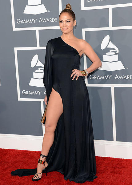 2013 Grammy Awards: Best and worst moments: Jennifer Lopez. And her right leg.   -- Rick Porter, Zap2it