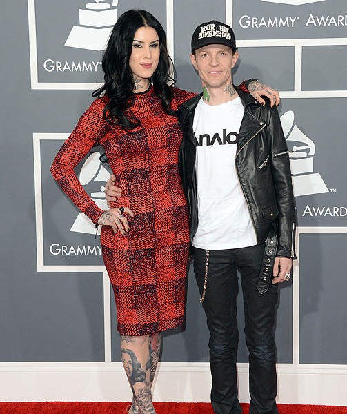 Tattoo artist Kat Von D  and DJ Deadmau5