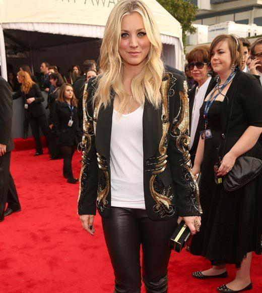 Grammy Awards 2013: Red Carpet Arrivals: Kaley Cuoco