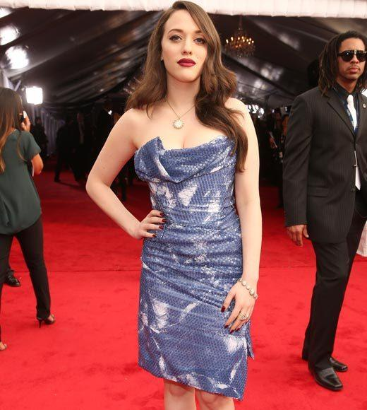 Grammy Awards 2013: Red Carpet Arrivals: Kat Dennings