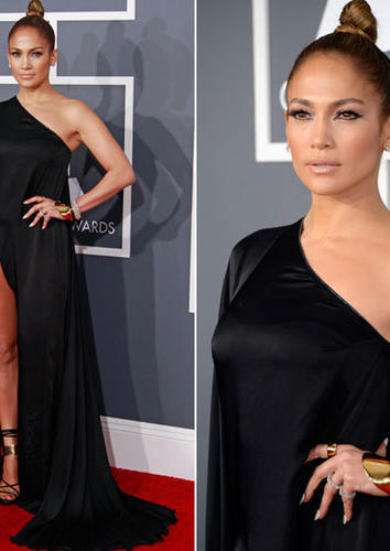 Jennifer Lopez in Anthony Vaccarello.