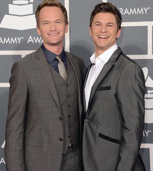 Grammy Awards 2013: Red Carpet Arrivals: Neil Patrick Harris and David Burtka
