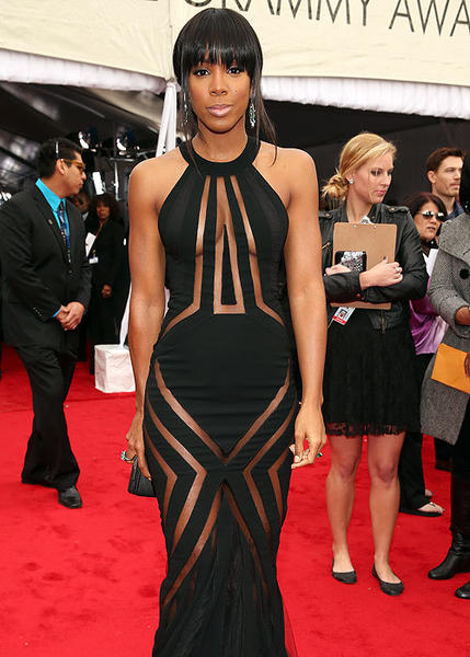 2013 Grammy Awards: Best and worst moments: Technically, Kelly Rowlands dress may have met the Grammys dress code, but she was pushing it. With pieces of the otherwise simple dress cut out, it almost looked like Rowland was wearing a black snowflake of a dress.   -- Laurel Brown, Zap2it