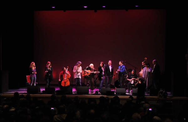 "A ""Concert of Caring, Healing and Togetherness"" was held at the Ridgefield Playhouse Sunday afternoon. Peter Yarrow was the host and co-sponsor of the event, which was about ""restoring the heart and soul of a caring community,"" says Yarrow, who lives in Manhattan and formulated the idea for the concert with Newtown resident Rick Brodsky, a psychologist and a music producer. ""The concert should give the community a sense of comfort and solidarity."""