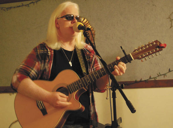 Nashville, Tenn.-based musician Jason Kabler performs Sunday at the American Legion in Greencastle, Pa., his hometown.