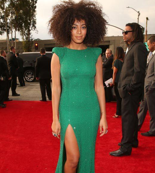 Grammy Awards 2013: Red Carpet Arrivals: Solange Knowles