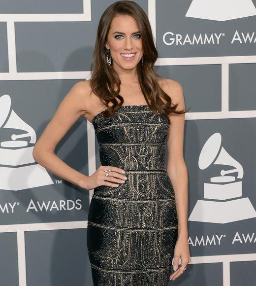 Grammy Awards 2013: Red Carpet Arrivals: Allison Williams