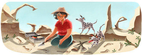 "Mary Leakey, archeologist and paleoanthropologist, was believed to be the unsung hero of the Leakey team with her huband, Louis. It was Mary who in 1959 found the skull in the Olduvai Gorge in Tanzania that assured the Leakeys' place in history and secured funding from the National Geographic Society for their lifetime research.<br><b>More:</b> <a href=""http://articles.latimes.com/1996-12-10/news/mn-7546_1_mary-leakey"" target=""_blank""> Mary made the Leakeys' first major discovery, an ape-like skull of a human ancestor</a>"