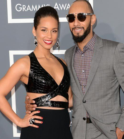 Grammy Awards 2013: Red Carpet Arrivals: Alicia Keys and Swizz Beatz