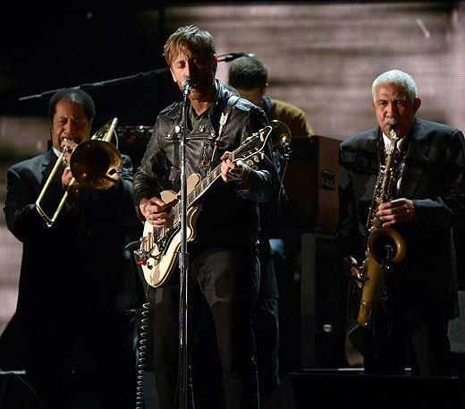 2013 Grammy Awards: Best and worst moments: Thank goodness The Black Keys were there to wake everyone up, after so many of the 2013 Grammy performances have been slow. Justin Timberlake was able to get the crowd moving, but the show was lacking a jolt to the system. Luckily, the Black Keys delivered. Accompanied by the legendary Dr. John, who won a Grammy for best blues album, and the Preservation Hall Jazz Band from New Orleans, The Black Keys roared through Lonely Boy, daring anyone who follows to top them.   --Chris E. Hayner, Zap2it