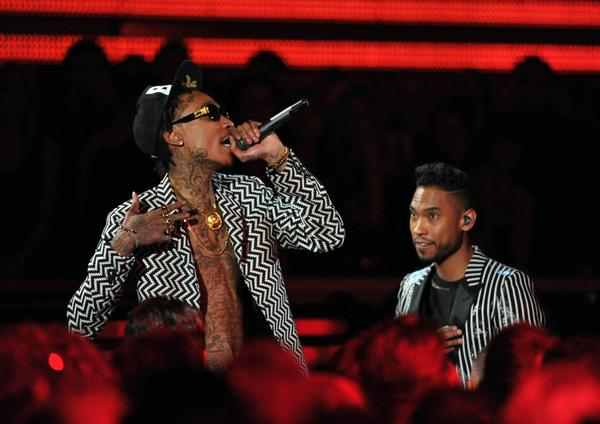 The Grammys have long been known for their odd or interesting pairings: Many praised music elder statesman Elton John teaming with Ed Sheeran, while many criticized Miranda Lambert and Dierks Bentley. But the strangest pairing had to have been Miguel, right, and Wiz Khalifa performing together and then having to present the award for country solo performance.